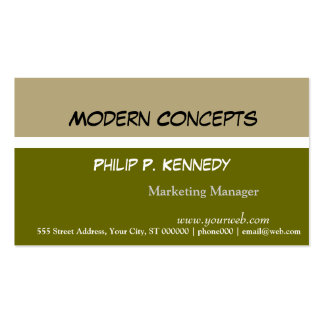 Modern Tri Color Green Consultant Business Card