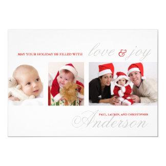 Modern Tri-Photo Holiday Photo Card
