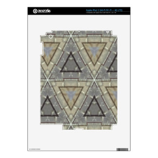 Modern triangle pattern decal for iPad 3