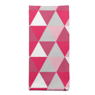 Modern Triangle Pattern in Shades of Pink Cloth Napkins