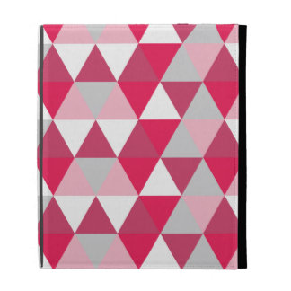 Modern Triangle Pattern in Shades of Pink iPad Folio Cases