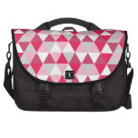 Modern Triangle Pattern in Shades of Pink Laptop Commuter Bag
