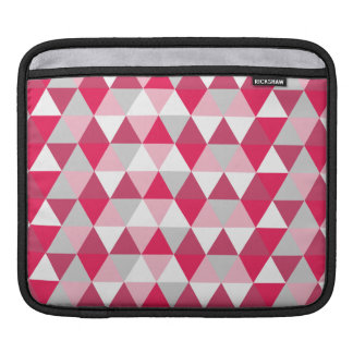 Modern Triangle Pattern in Shades of Pink Sleeve For iPads