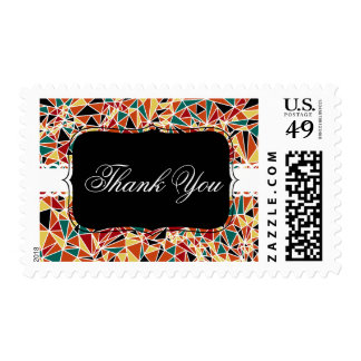 Modern Triangle Pattern Postage Stamp