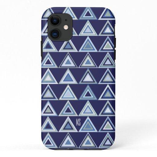 Modern triangles pattern iPhone 11 case