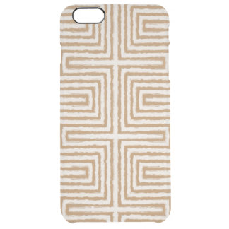 Modern Tribal African Maze print Clear iPhone 6 Plus Case