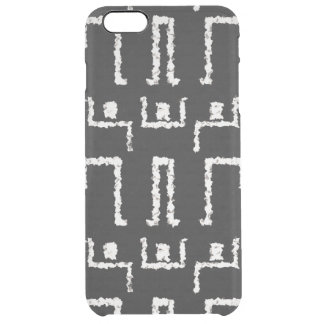 Modern Tribal African Mudcloth print Clear iPhone 6 Plus Case