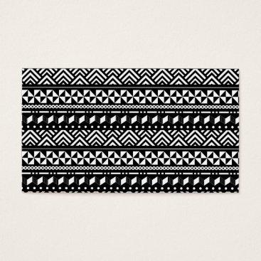 Aztec Themed Modern Tribal Aztec Geometric Business Card
