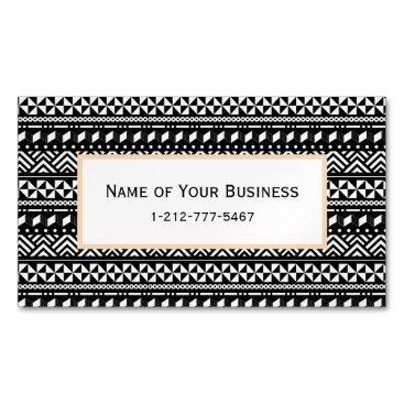 Aztec Themed Modern Tribal Aztec Geometric Magnetic Business Card