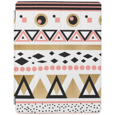 Aztec Themed modern tribal aztec gold foil geometric pattern iPad smart cover