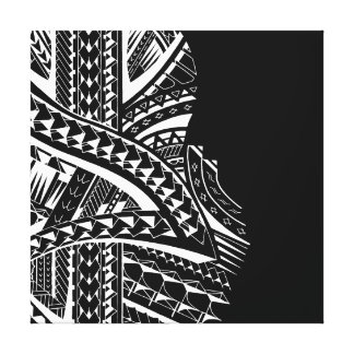 Modern tribal canvas art in Samoan style