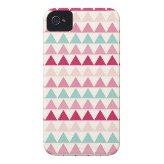 Modern tribal geometric pattern print triangles Case-Mate iPhone 4 case