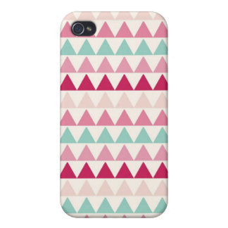 Modern tribal geometric pattern print triangles cover for iPhone 4