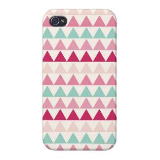 Modern tribal geometric pattern print triangles iPhone 4 cover