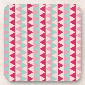 Modern tribal geometric pattern stripes chic print drink coaster
