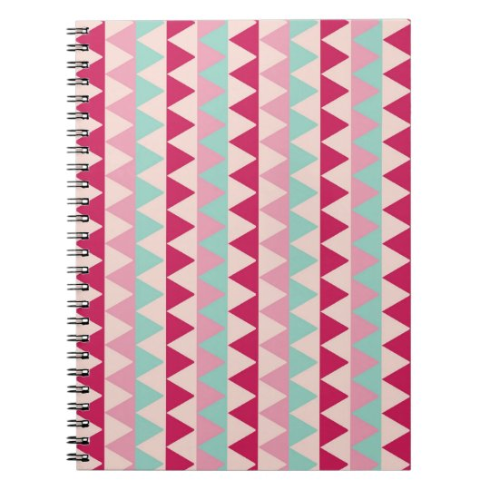 Modern tribal geometric pattern stripes chic print notebook