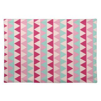 Modern tribal geometric pattern stripes chic print placemat