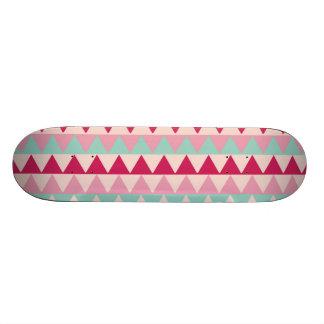 Modern tribal geometric pattern stripes chic print skateboard deck