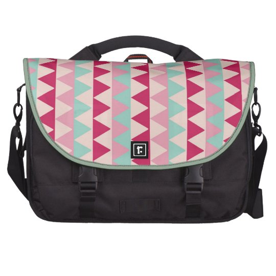 Modern tribal geometric pattern zig zag chic print bag for laptop