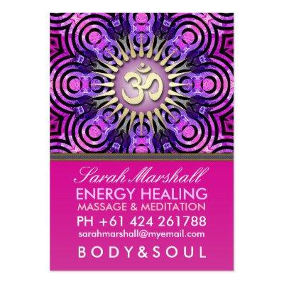 Modern Tribal OM Energy Pink Big Business Card