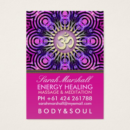 Modern Tribal OM Energy Pink Big Business Card