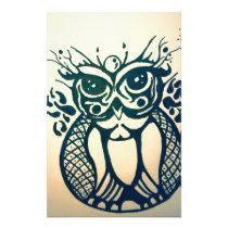 Modern Tribal Owl Stationery