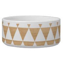 Modern tribal wood geometric chic andes pattern bowl