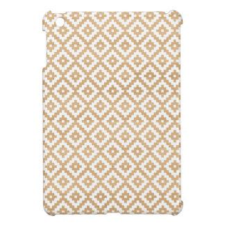 Modern tribal wood geometric chic andes pattern iPad mini case