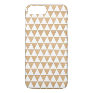 Modern tribal wood geometric chic andes pattern iPhone 7 plus case