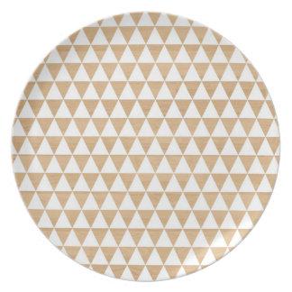 Modern tribal wood geometric chic andes pattern melamine plate