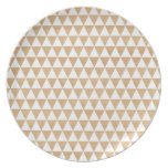 Modern tribal wood geometric chic andes pattern dinner plate