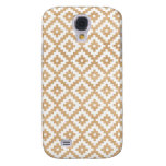 Modern tribal wood geometric chic andes pattern samsung s4 case