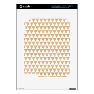 Modern tribal wood geometric chic andes pattern decal for iPad 3