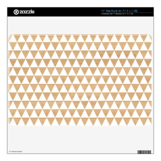 Modern tribal wood geometric chic andes pattern skins for the MacBook