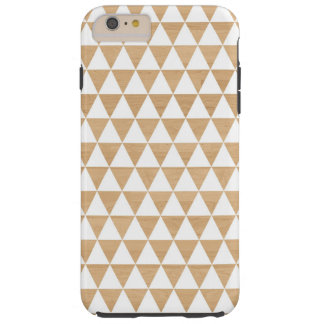 Modern tribal wood geometric chic andes pattern tough iPhone 6 plus case