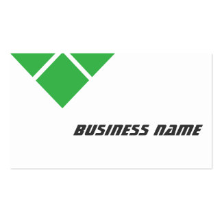 Modern Triple Green Announcer Business Card