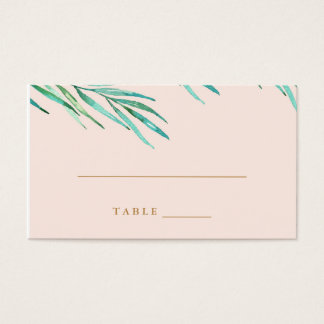 Modern Tropical Beach Wedding Escort Card
