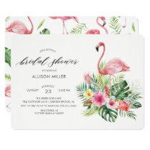 Modern Tropical Flamingo Bridal shower Invitation