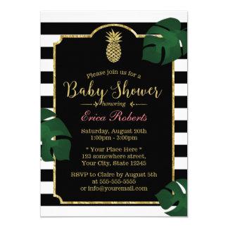 Modern Tropical Pineapple Hawaiian Baby Shower Card