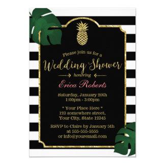 Modern Tropical Pineapple Hawaiian Wedding Shower Card
