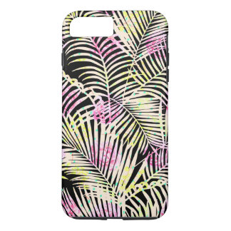Modern  tropical pink black white floral palm tree iPhone 8 plus/7 plus case