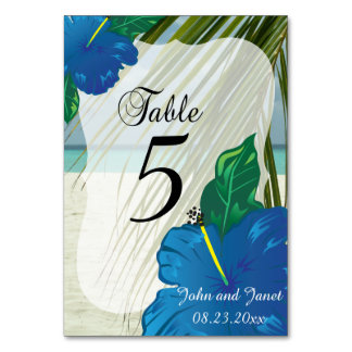 Modern Tropical Wedding    Personalize Card