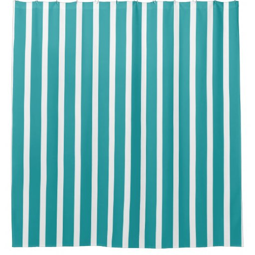 Modern Turquoise And White Stripes Shower Curtain Zazzle