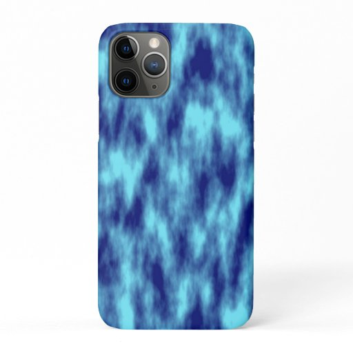 Modern turquoise blue tie dye iPhone 11 pro case