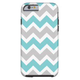 Modern Turquoise Gray Chevron iphone 6 case