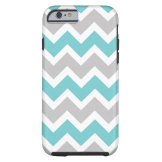 Modern Turquoise Gray Chevron iphone 6 case