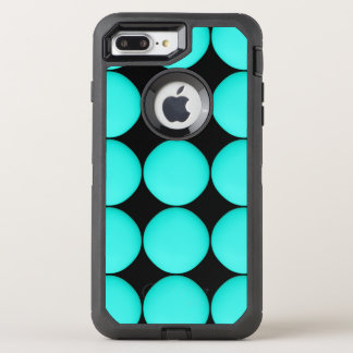Modern Turquoise Pattern OtterBox Defender iPhone 8 Plus/7 Plus Case