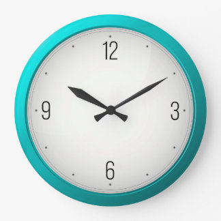Modern Turquoise Round Wall Clocks