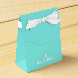 modern turquoise  tiffany blue wedding favor favor boxes