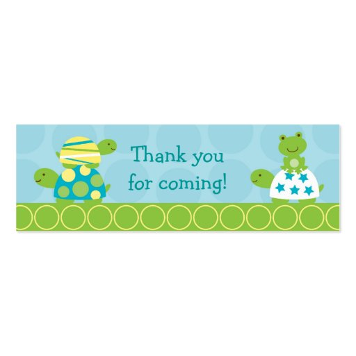 Modern Turtle Frog Goodie Bag Tags Gift Tags Business Card Templates